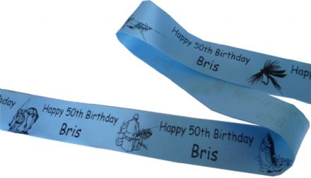 FISHING THEME PERSONALISED RIBBON